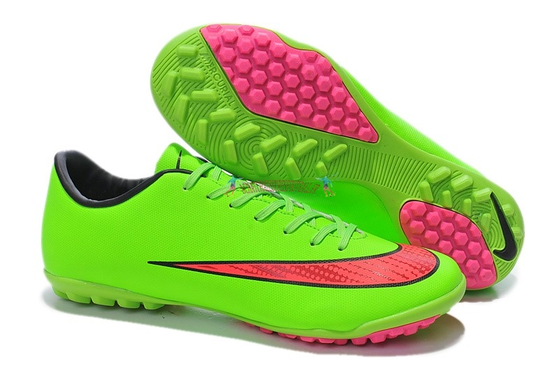 Les 2019 meilleures Nike Mercurial X Victory Femme TF Vert Rouge