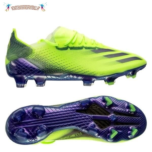 Les 2021 Meilleures Adidas X Ghosted.1 Femme FG/AG Precision To Blur Vert Pourpre