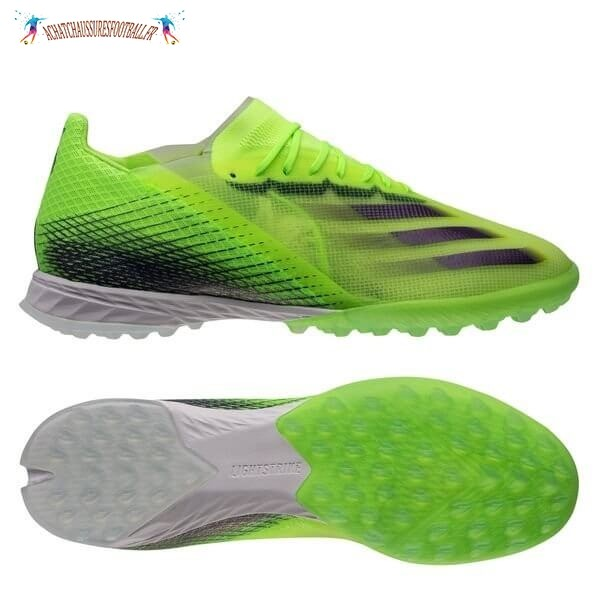 Les 2021 Meilleures Adidas X Ghosted.1 TF Precision To Blur Vert Noir Blanc