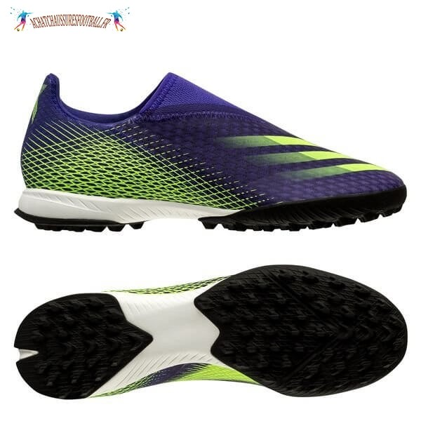 Les 2021 Meilleures Adidas X Ghosted.3 Laceless TF Precision To Blur Vert Pourpre