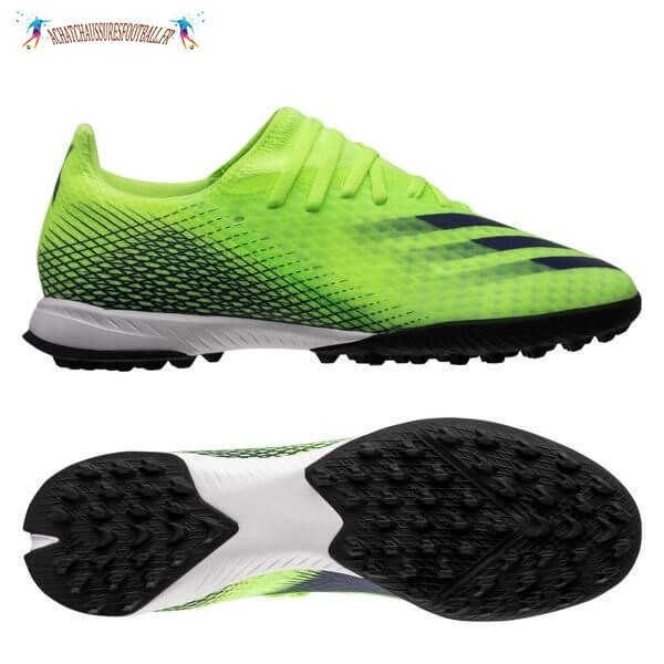 Les 2021 Meilleures Adidas X Ghosted.3 TF Precision To Blur Vert Noir Blanc